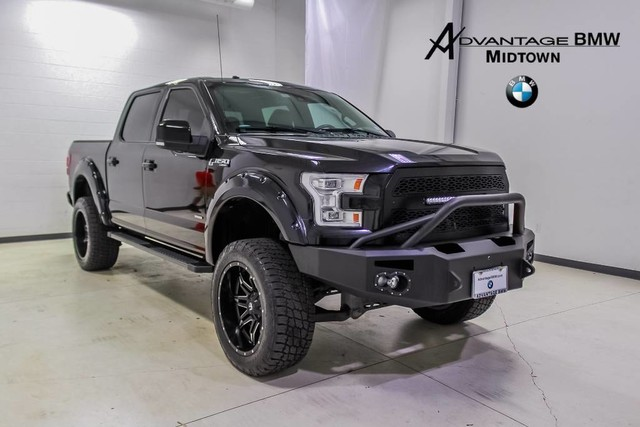 2015 F150 Lifted >> Pre Owned 2015 Ford F 150 Four Wheel Drive Lariat 4wd Sport Lifted